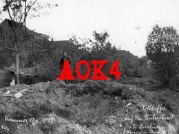 59 Nord COMINES 1917 Occupation Allemande Flandern Nordfrankreich Fussartillerie Regiment 9 Unterstand Abri Bousbecque - Sonstige Gemeinden