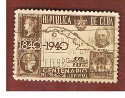 CUBA -SG  443  -  1940   CENTENARY 1ST POSTAGE STAMP  - USED - Cuba