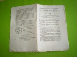 1822:Suppression Ecole D'équitation De Saumur.Sté Des 5 Ponts Bordeaux:statuts,actionnaires,emprunt. Vinification. Legs - Décrets & Lois