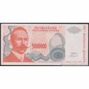 TWN - BOSNIA-HERZEGOVINA 156a - 5000000 5.000.000 Dinara 1993 Prefix A AU/UNC - Bosnia Erzegovina