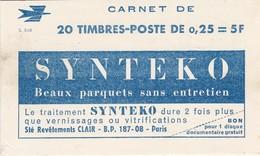 Carnet France  N°1263-C4**   20X0,25f - Usage Courant