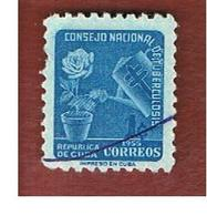 CUBA -SG  746   -  1955   ANTI-T.B. : ROSE     - USED - Usati