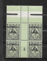 Wallis Et Futuna De 1920 N°1 Bloc De 4 Millésime 5 - Wallis And Futuna