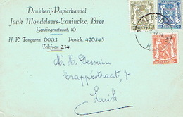 PK Publicitaire BREE 1947 - Jaak MONDELAERS-CONINCKX - Drukkerij - Papierhandel - Bree