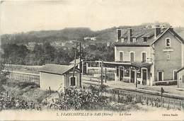 - Dpts Div.-ref-AC875- Rhone - Francheville Le Bas - La Gare - Vue Interieure - Gares - Ligne De Chemin De Fer - - Frankreich