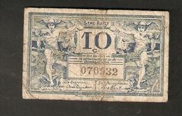 T. Belgium Belgique RARE Banknote Notgeld Stad AALST 10 C. Centimes Centiemen No. 070932 - Belgium