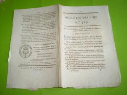 1822:Pensions Aux Médecins & Soeurs Envoyés à Barcelone. Legs Digne,Roquefort... Concession Mines Houille St Victor La C - Decrees & Laws