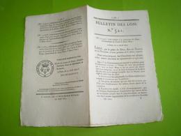 1822:Concession Des Eaux Surabondantes Du Canal De St Maur.Pont De Pierre De Rouen.Legs St Loup,Talasano,Penot ... - Decrees & Laws