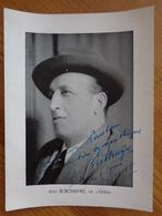 DEDICACE DE JEAN BORTHAYRE DE L'OPERA  1955 - Autografi