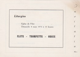 FILOT ( Hamoir ) 1973 Programme De Musique - Programs