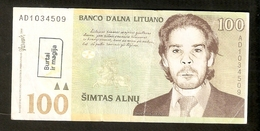 T. Lithuania Banco D'Alna Lituano 100 Simtas Alnu Darento Al Ziezone AD1034509 - Lituanie
