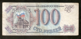 T. Russia 100 Rubel Roubles 1993 Ser. HN 3759902 - Russia