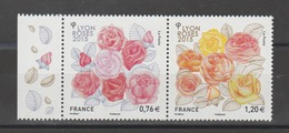FRANCE / 2015 / Y&T N° 4957/4958 ** : Dyptique Roses - Lyon - Gomme D'origine Intacte - France