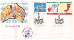 (400) Australia FDC Cover - Sydney Stamp Show - Purple Overprint - 1988 - FDC