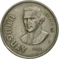Monnaie, Uruguay, 10 Nuevos Pesos, 1981, Santiago, TB+, Copper-nickel, KM:79 - Uruguay
