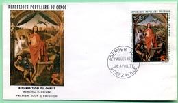 FDC Enveloppe 1er Jour CONGO Brazzaville 26/04/71 Pâques 1971 Résurrection Du Christ Memling - FDC