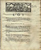 L'ETAT PAIE SES DETTES ! 1791 REVOLUTION  DETAIL DU PAIEMENT DES ARRIERES DE LA MAISON DU ROI INTERESSANTE LISTE - Decrees & Laws