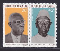 SENEGAL AERIENS N°   75 & 76 ** MNH Neufs Sans Charnière, TB (D7628) Président Lamine Gueye - 1969 - Sénégal (1960-...)