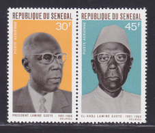 SENEGAL AERIENS N°   75 & 76 ** MNH Neufs Sans Charnière, TB (D7628) Président Lamine Gueye - 1969 - Senegal (1960-...)