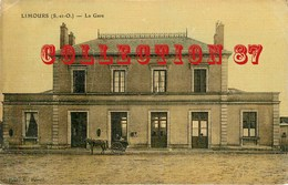 91 ☺♦♦ LIMOURS - RARE VISUEL COULEUR De La FACADE De La GARE - BAHNHOF - Limours
