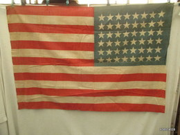 Drapeau  U. S -WW2 - 48 étoiles  Bon état 114 Cm Sur 78 Cm - Armes Neutralisées