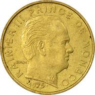 Monnaie, Monaco, Rainier III, 10 Centimes, 1975, TTB, Aluminum-Bronze, KM:142 - 1960-2001 Nouveaux Francs