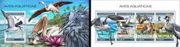 Mozambico 2018, Animals, Water Birds, 4val In BF +BF - Marine Web-footed Birds
