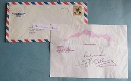 Edmund HILLARY Alpiniste 1er Homme à Avoir Gravi L'EVEREST Signature Autographe Autograph Himalaya New Zealand Auckland - Autografi