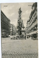 VIENNA Graben With Horse Wagons And Street Life C. 1908 - Vienna Center