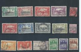 Sierra Leone Stamps. Early Used Lot.(C469) - Sierra Leone (...-1960)