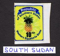 SOUTH SUDAN Südsudan 10 SSP Revenue / Fiscal Stamp Western Equatoria State Pineapple Timbres Fiscaux Soudan Du Sud RARE! - Zuid-Soedan