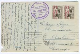 1933  M.S. MONTE PASCOAL Auf Hoher See An Bord Violett Sehr Nett Auf Madeira AK M. Eckenfehler - Briefe U. Dokumente