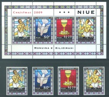 NIUE  - 2009 - MNH/***   - CHRISTMAS - Yv 916-919 BLOC 159 - Lot 17781 - Niue
