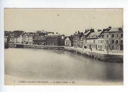 CPA 76 Saint Valery En Caux Le Quai D'Aval 7 - Saint Valery En Caux
