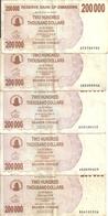 ZIMBABWE 200000 DOLLARS 2007 VF P 49 ( 5 Billets ) - Zimbabwe