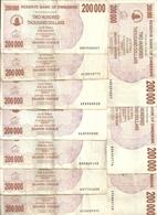 ZIMBABWE 200000 DOLLARS 2007 VF P 49 ( 10 Billets ) - Zimbabwe
