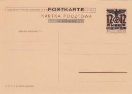 Deutsches Reich General Gouvernement Postkarte 1940 P7A - Deutschland
