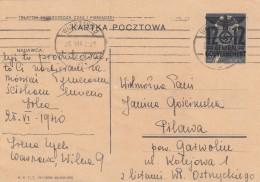 Deutsches Reich General Gouvernement Postkarte 1940 P3II - Deutschland