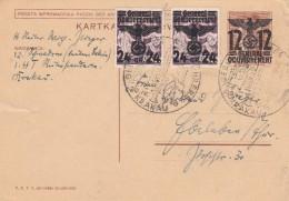 Deutsches Reich General Gouvernement Postkarte 1940 P7F - Allemagne