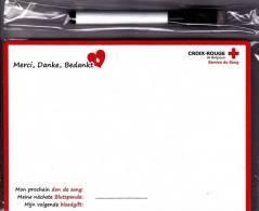 Croix-Rouge De Belgique - Service Du Sang - Memo Magnétique Souple Avec Marqueur - Neuf Sous Célophane - Organizations