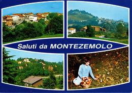CUNEO - Saluti Da Montezemolo - 4 Vedute - Panorama - Raccolta Di Funghi - Fungo - Cuneo