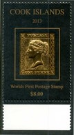 """COOK ISLANDS 2013** - Worlds First Postage Stamp """"Penny Black"""" - 1 Val. MNH, Come Da Scansione. - Cook"""