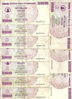 ZIMBABWE 50 MILLION DOLLARS 2008 VF P 57 ( 10 Billets ) - Zimbabwe