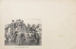 Militair WWI - Guerre // In An American Camp - American Red Cross Card // 19?? - Oorlog 1914-18