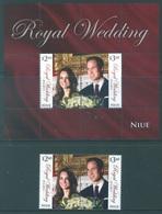 NIUE  - 2011 - MNH/***  - ROYAL WEDDING - Yv 931-932 BLOC 162 - Lot 17786 - Niue