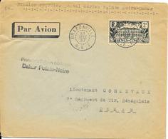 LOT 1809155 - CONGO N° 130 SUR LETTRE DE BRAZZAVILLE DU 19 MAI 1937 - PREMIER COURRIER POSTAL POINTE NOIRE / DAKAR - Lettres & Documents