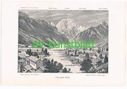 050-3 Reschreiter Claut Karnische Alpen Bergdorf Druck 1900 !! - Stampe