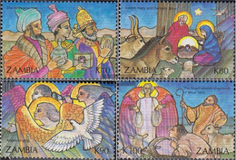 Sambia 611-614 (complete Issue) Unmounted Mint / Never Hinged 1992 Christmas - Zambia (1965-...)