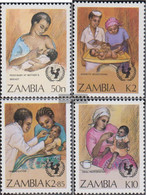 Sambia 448-451 (complete Issue) Unmounted Mint / Never Hinged 1988 Campaign: Survive The Kinthe - Zambia (1965-...)