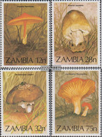 Sambia 325-328 (complete.issue.) Unmounted Mint / Never Hinged 1984 Mushrooms - Zambia (1965-...)